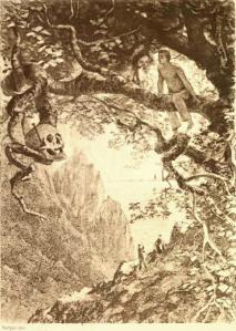 Ilustración original del Escarabajo de Oro (Poe)