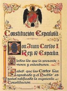 Imagen: texto de la Constitución Española de 1978 - Un fragmento