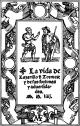 El Lazarillo de Tormes, portada original