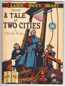Cubierta del libro: historia de dos ciudades de Charles Dickens