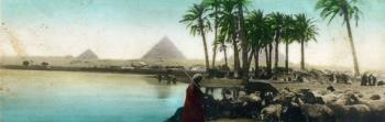 Escena egipcia junto al Nilo