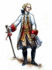 Ilustración del Marqués de Sade
