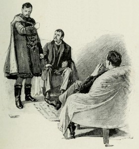 Ilustración original de Escándalo en Bohemia