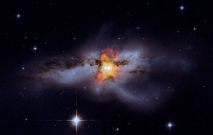 A galaxy about 330 million light years from Earth.