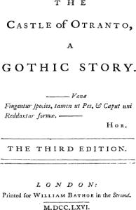 Imagen de una tercera edición de El castillo de Otranto