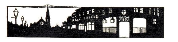 Imagen: silueta recortada de una villa inglesa