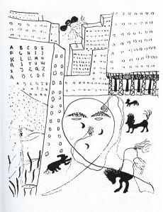 Dibujo: Autorretrato de Lorca